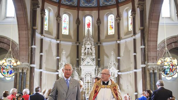The Prince of Wales visited St Patrick's Church in Belfast earlier this year