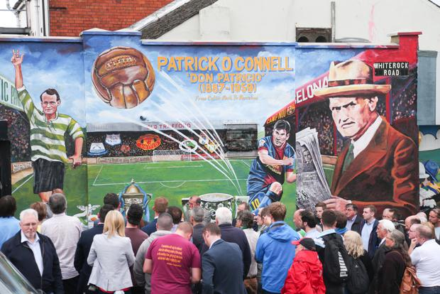 Big draw: The Patrick O'Connell mural in Belfast
