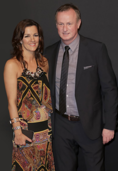 Michael O'Neill with wife Bronagh at the Sports Personality of the Year awards in Belfast