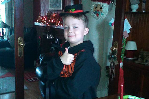 Little Jackson Turner died after the car in which he was travelling was in a collision on the Old Carrick Road