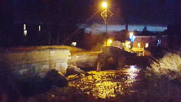 Tadcaster Bridge near York collapses following recent flooding