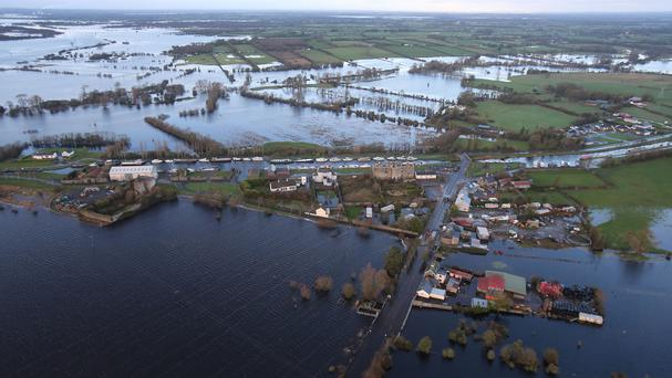 Flooded roads in Banagher, Co Offaly, earlier this month
