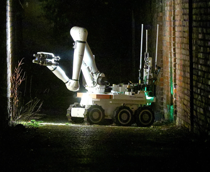 A PSNI bomb disposal unit after an alert in the Voltaire Gardens area of north Belfast last March