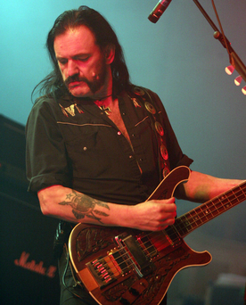 Lemmy during the 2004 Ulster Hall gig