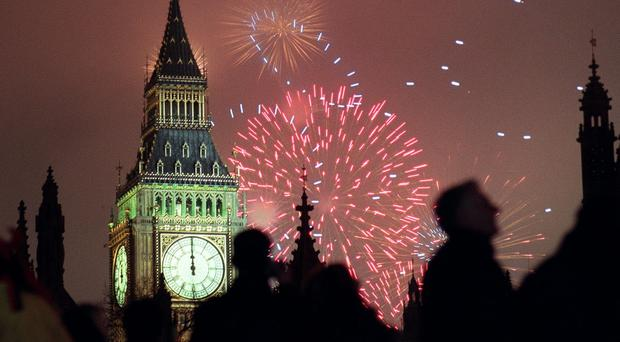 Some will go out to watch fireworks to mark the new year but a poll found the majority will stay in