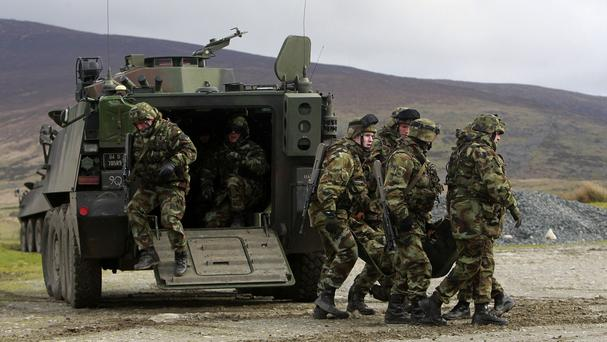 Papers reveal that Army chiefs feared the British and nationalists would request Irish troops to be sent over the border