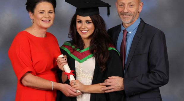 Liam McHugh with his wife and daughter Rachel