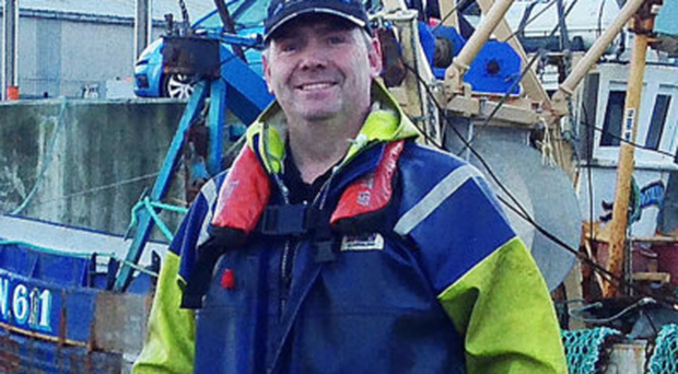 Michael Young, the harbour master, spent yesterday clearing up after the storm