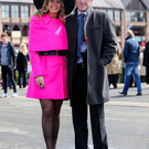 Former jockey Tony McCoy with his wife Chanelle