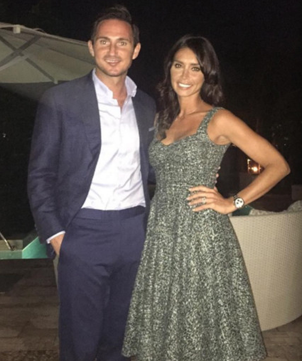 Happy couple: Frank and Christine Lampard