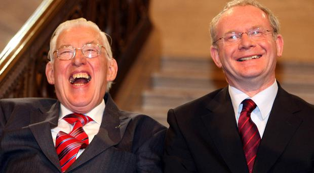 Chuckle Brothers: The late Rev Ian Paisley and Martin McGuinn
