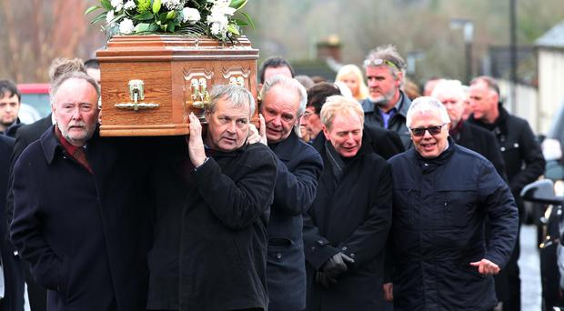Mudd Wallace's funeral at St Brigid's Church