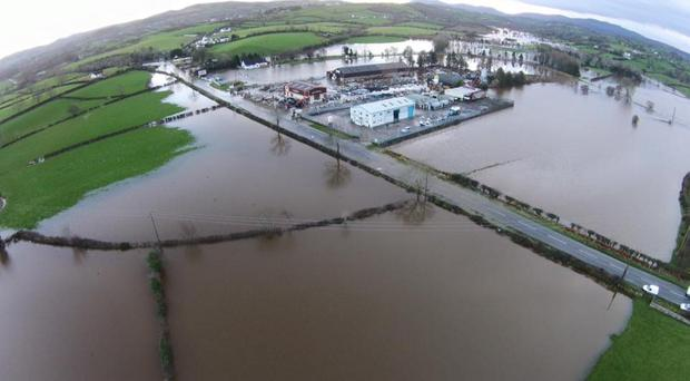 Newry/Mayobridge: Flooding pictures taken by Patrick Hughes and Mark Hillen using drones to capture the aerial images