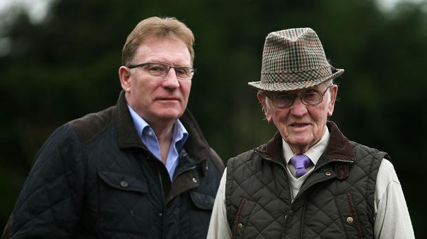 Noel O'Dowd pictured with his father Barney O'Dowd