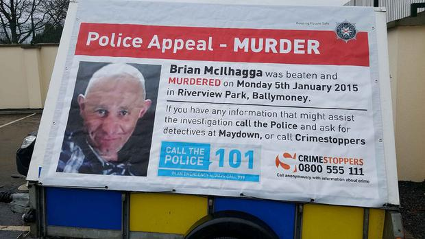 Police are investigating the murder of Brian McIlhagga, 42, who was battered, shot in both legs and left to die by masked men in Ballymoney (PSNI/PA)