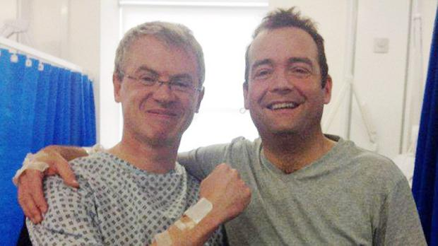 Joe Brolly, left, donated a kidney to fellow GAA enthusiast Shane Finnegan, right (Aiken PR/PA)