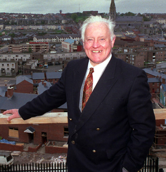 Paddy Doherty on Derry's walls overlooking the Bogside