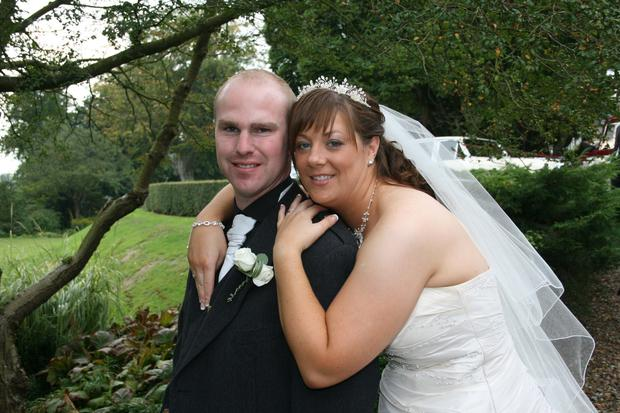 Derek Walker and his wife Michelle on their wedding day in 2008