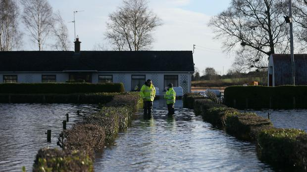 Derrytresk, near Dungannon, was affected by the rising water levels in Lough Neagh.