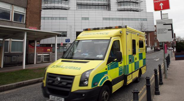 A man injured in an incident with a train at Finaghy was taken to Belfast's Royal Victoria Hospital
