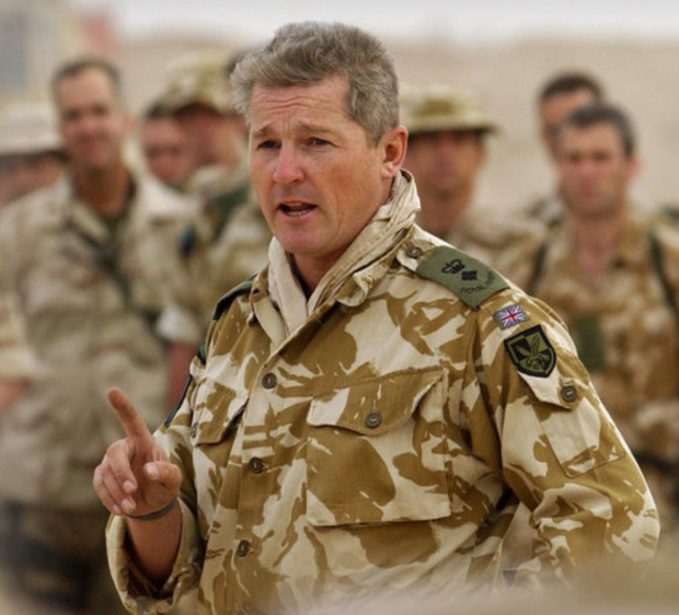 Tim Collins giving the rousing eve of battle speech to his men before they entered Iraq, which made him a national hero