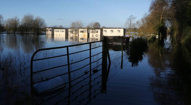 Flooded fields near Dungannon, which was among the areas affected by the rising water levels in Lough Neagh