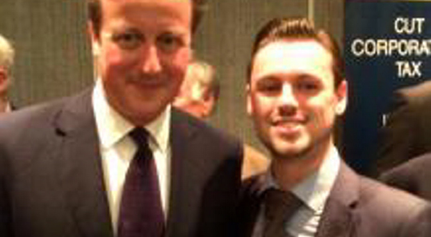 Ben Manton with Prime Minister David Cameron