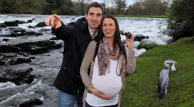Ruan Pienaar and his wife Monique before the birth of their daughter Lemay