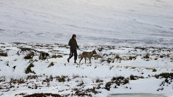 About three to six centimetres of snow is expected to fall quite widely across the UK