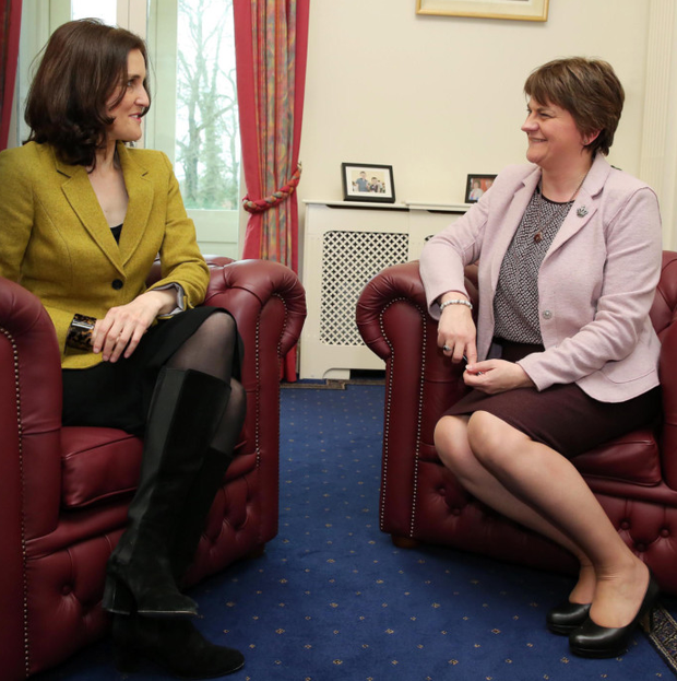 New First Minister Arlene Foster meets Secretary of State Theresa Villiers