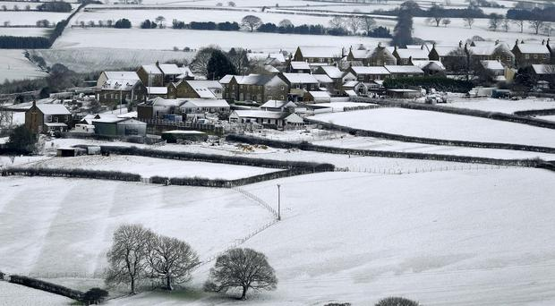 Wintery scenes over County Durham near Stanley, as the UK braced for a new wave of bad weather after forecasters issued warnings of heavy snow in parts of England and Scotland