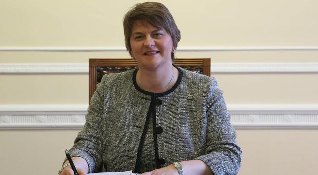 The national anthem will continue to be played before Northern Ireland football matches, Arlene Foster has said