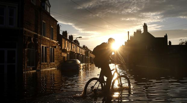 The damage caused by heavy rainfall over December is estimated to be more than one billion pounds