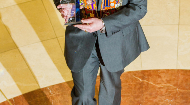 David Jeffrey, with his Grand Master's Award at the annual Orange Community Awards in Lisburn