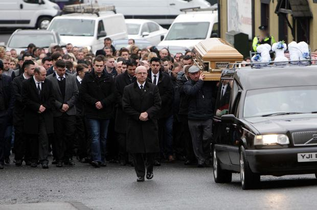 The funeral of James McDonagh which took place in Coalisland yesterday