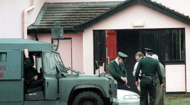 Police inspecting the scene at The Glengannon Hotel, near Dungannon where Seamus Dillon, was gunned down (PA/file)