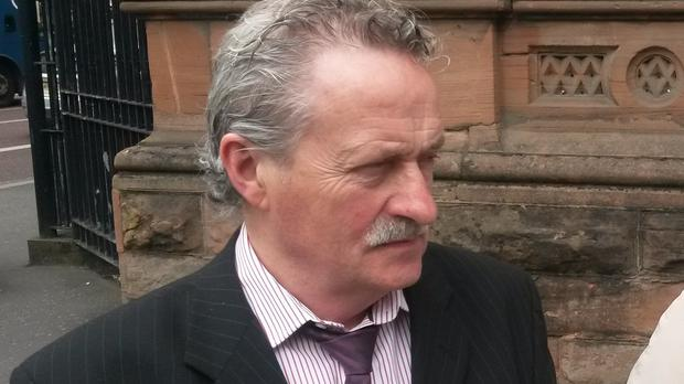 Robert McGleenan, brother of Gerard McGleenan, pictured at a preliminary hearing for a new inquest