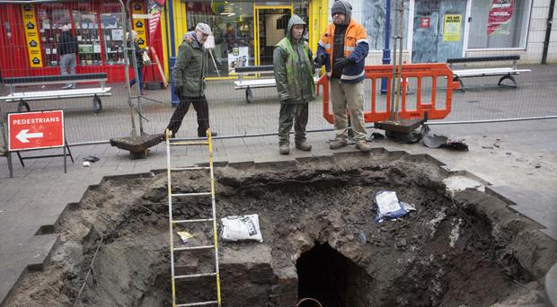 Utility workers discovered the tunnel during their excavations in Kingsgate Street