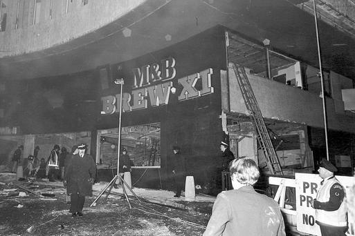 The scene of the Birmingham pub bombings
