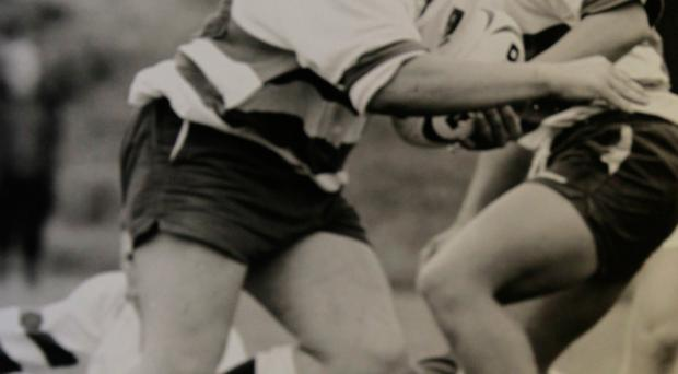 Rory Best playing for his old school, Portadown College