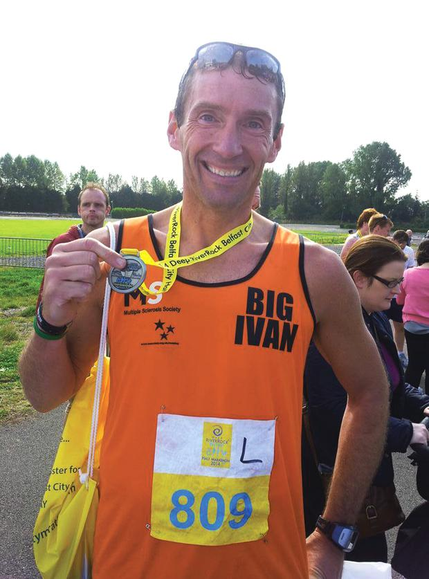 Ivan Prue with his medal