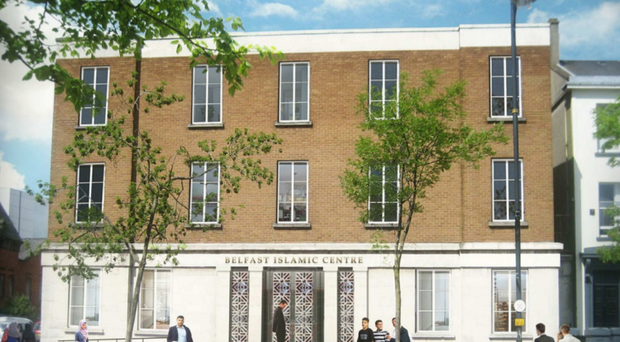 An artist's impression of the new Belfast Islamic Centre