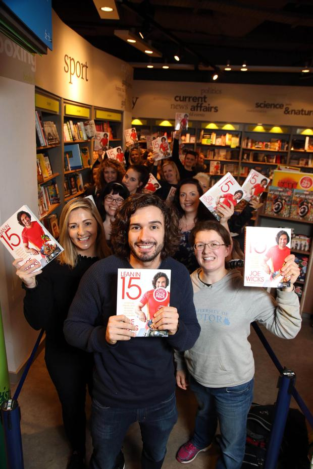 Internet sensation and online nutrition coach Joe Wicks, otherwise known as The Body Coach, at Eason's in Belfast