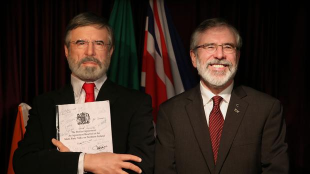 Gerry Adams unveils his wax likeness in Dublin