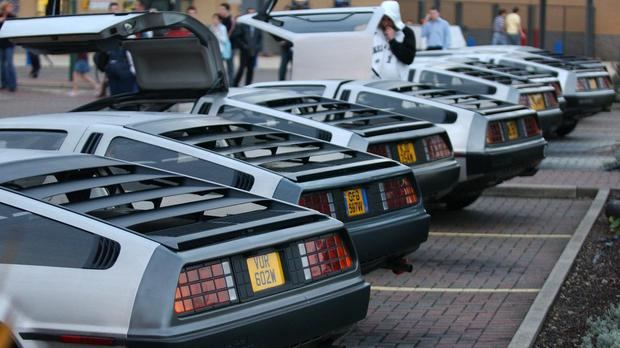The DeLorean's silver gull wing door design was immortalised in Back To The Future