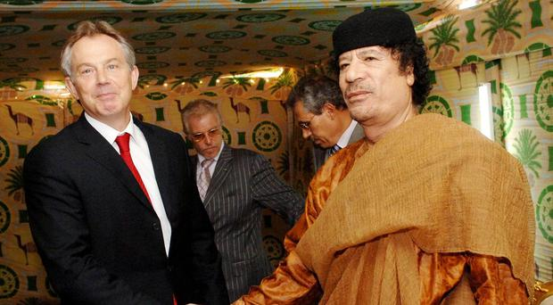 Laurence Robertson asked how many meetings Tony Blair had with Muammar Gaddafi whilst in office and after leaving office