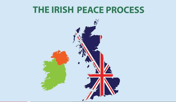 Graphics from the Irish National Caucus 'educational' video, which attacks the Orange Order and also features a map of Northern Ireland which wrongly includes Co Donegal and parts of Monaghan and Cavan