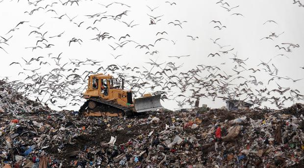 The amount of waste sent to landfill in Northern Ireland has dropped to a record low - but not because we are recycling more