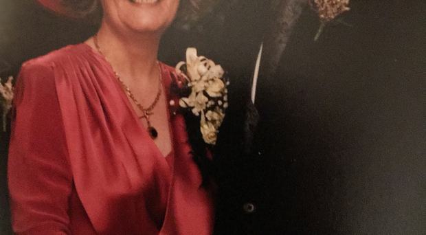 Jonathan Bell with his late mother Norma on his wedding day