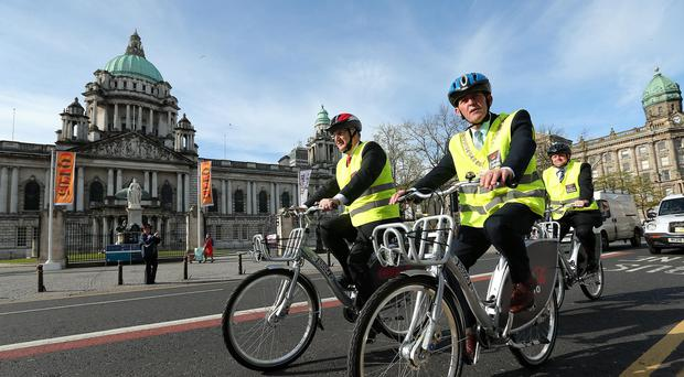 There are more than 300 Belfast Bikes at 33 docking stations in various locations across the city centre